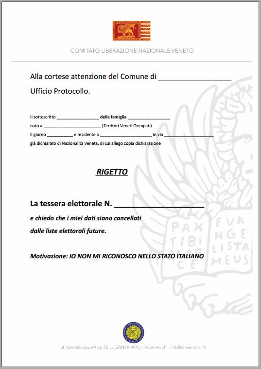 Comunicato 1263 2016 rigetto tessera elettorale italiana - Ufficio elettorale milano ...